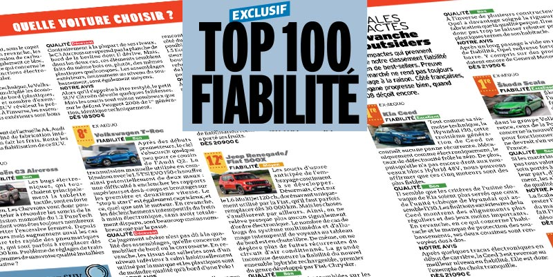 illustration de Le TOP 100 Fiabilité de l'Automobile Magazine