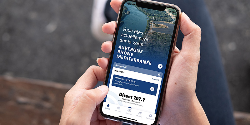 illustration de La nouvelle application de Radio VINCI Autoroutes